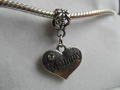 MUMMY DANGLE Silver Plated Charm/Bead - Pandora/Chamilia