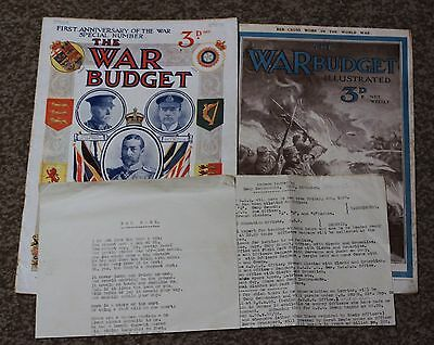 War Ephemera 1914 Magazines and Original sheet Troop Movement from the Somme.