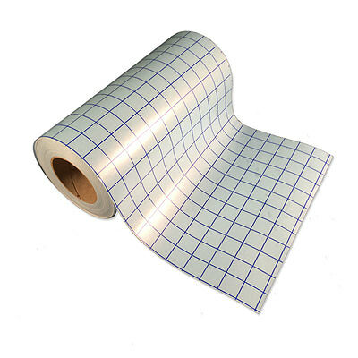 """Clear Transfer Tape-2 rolls-12""""x5' -lined w/Blue Grid-Adhesive Vinyl-Craft Hobby"""