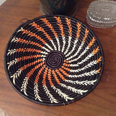 Hand Made Basket  Large Coiled Africa