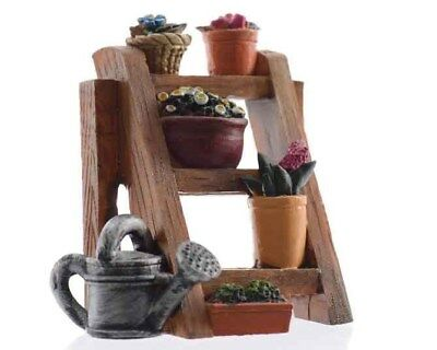 Miniature Dollhouse FAIRY GARDEN - Planting Rack - Accessories
