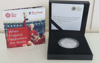 2016 ROYAL MINT  £5  POUND SILVER PROOF  ENGLAND WINNING The 1966 WORLD CUP