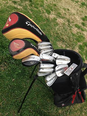 TAYLORMADE GOLF CLUB SET Driver Wood Hybrid Irons Putter +