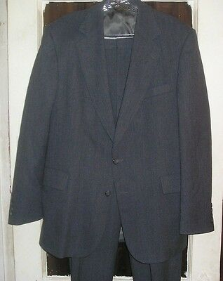 USA Made Mens Wool Suit by Strathmore 44L