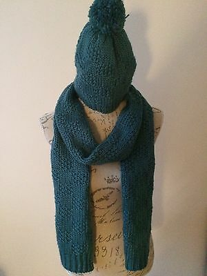 Next Teal Hat And Scarf