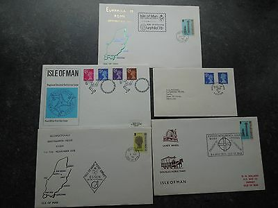 Isle Of Man FDC etc Covers. (5)