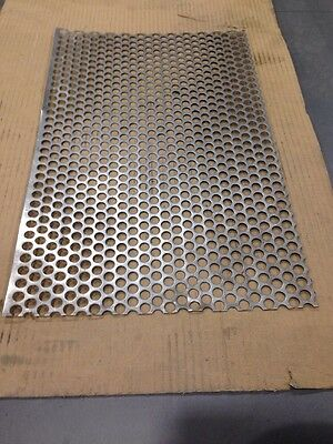 Perforated Sheet - Stainless steel 304 278mm X 440mm X 1mm - 10mm holes