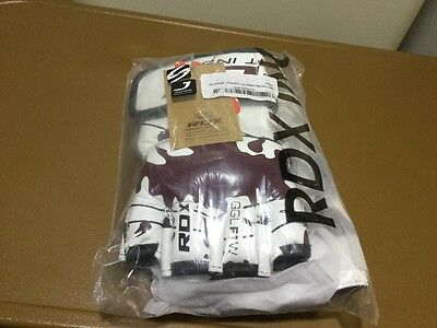 RDX Leather Grappling Fight Boxing Punch Bag Gloves
