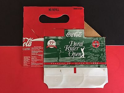 1996 Doral Ryder Open 35th Anniversary Coca Cola Coke 6 Pack Carrier Holder Golf