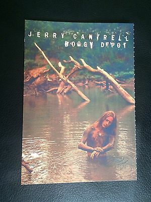Genuine Jerry Cantrell (ALICE IN CHAINS) Promo POSTCARD Boggy Depot - Columbia