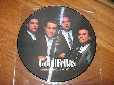 """Goodfellas  Words From A Wise Guy 12""""  Lp Picture Disc Rare Promo"""