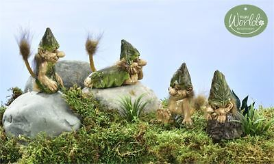 Fairy Garden Mini - Viking Village Resting Trolls - Set of 4