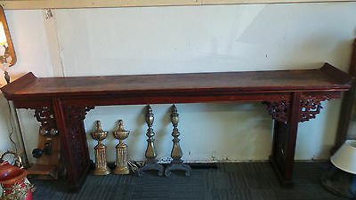 "Chinese Prayer Altar Table 103"" Long"