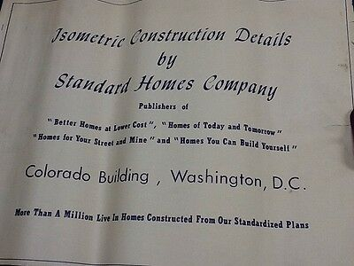 Vintage Isometric drawings of house construction Standard Homes  CO