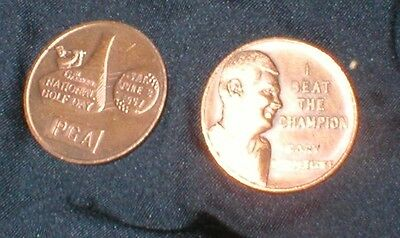 Vintage PGA National Golf Day medal 1957 Cary Middlecoff Beat Champion 32mm Mint