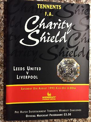 Leeds United V Liverpool Charity Shield 1992