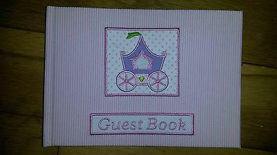 Brand New Pink Baby Girl Christening Guest Book Keepsake Gift