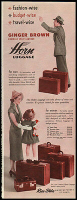 1950 vintage ad for Horn Luggage  -122611