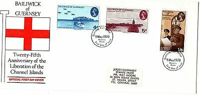 1970 GUERNSEY 25th ANNIVERSARY LIBERATION OF THE CHANNEL ISLANDS FIRST DAY COVER