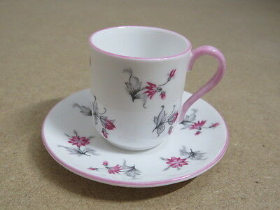 Vintage Shelley Miniature Cup and Saucer - 13849 - Pink Charm pattern