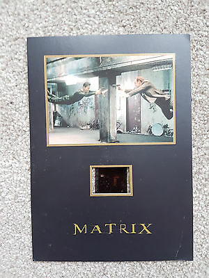"""""""The Matrix"""" Mounted Senitype Film Cell  - NUMBERED Keanu Reeves"""