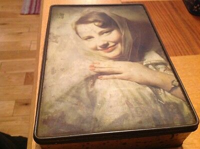 Vintage Edward Sharp Biscuit Tin. Beautiful Picture.
