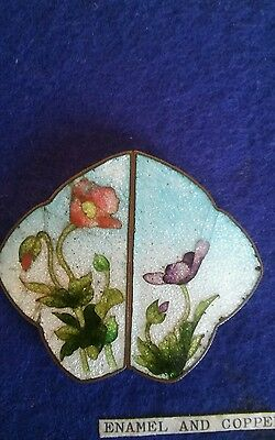 Copper and enamel buckle