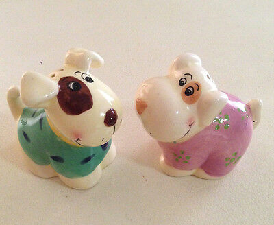 Puppy Dog Salt and Pepper Shakers Ceramic Never used