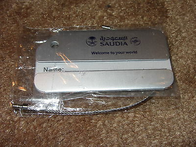 Saudia Airlines Chrome Effect Baggage Tag  Luggage New Mint