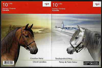 Canada Stamps -Booklet Pane of 10 -Canadian Horses #2330a (BK403) -MNH
