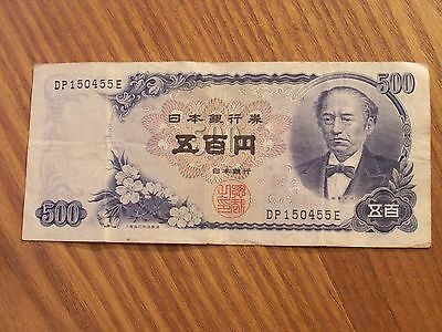 500 Yen Circulated Banknote From Japan