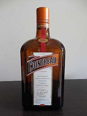 EMPTY, Decorative Glass Bottle, COINTREAU, from France, 1Litre