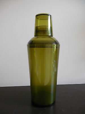 3 Piece Green Transparent COKTAIL SHAKER, Hold 550 ml, Great Condition