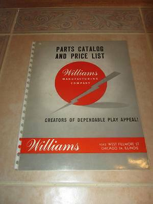 1949 Williams Pinball Parts Catalog