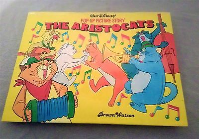 Walt Disney THE ARISTOCATS POP-UP PICTURE STORY 1st English edition 1986