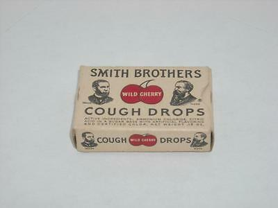 Vintage 1 Cent Smith Brothers Cough Drops Box Empty Wild Cherry