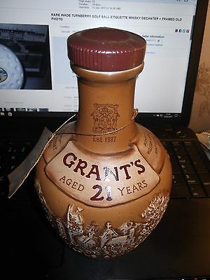 GRANTS WHISKY DECANTER by ROYAL DOULTON. Sealed but Empty. Ex- Display.