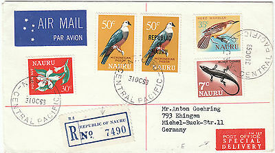 Nauru 1968 Registered Special Delivery to Germany Airmail (2)