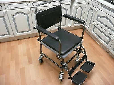 Commode, Wheeled Glideabout Commode / transport Chair