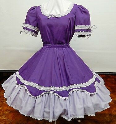 2 Piece Purple And Lavender Square Dance Dress