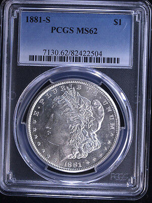 1881-S $1 Morgan Silver Dollar PCGS MS62