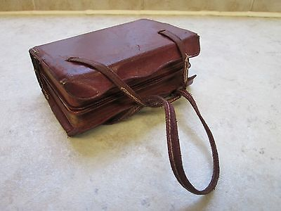Antique / Vintage Miniature Book of Hymns & Book of Common Prayer Leather Case