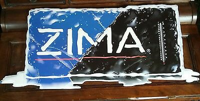 Zima Metal Sign with thermometer 13 1/2 x 31 1/2