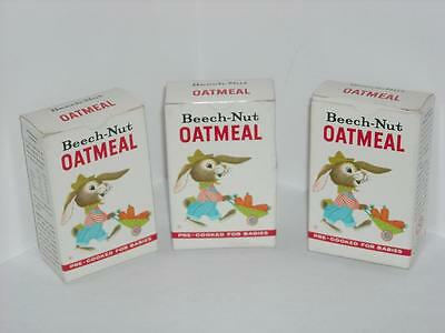 Vintage 3 1 Oz Beech Nut Oatmeal Pre Cooked for Babies Box Empty