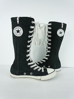 Kids Converse All Star Chuck Taylor Black Canvas TALL Fashion Sneakers Size 2