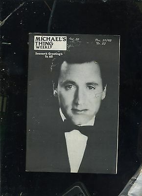 Michael's Thing- 12/31/90- Cabaret Plugs- Frank Stallone- Lorna Luft - Gay Mag.