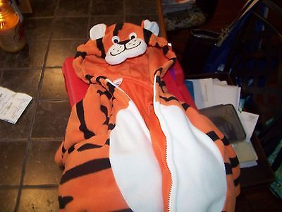 Halloween TIGER Costume size 12 (to 18) months Tigger Orange Black Great Used