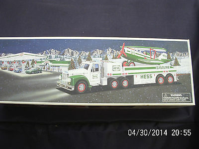 2002 Hess Toy Truck With Airplane New In The Box