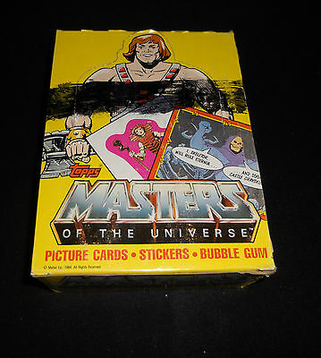 1984 Topps Masters of the Universe Cards Full Box 36 minty WAX PACKS He-Man