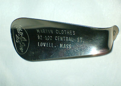 Vintage Advertising  Martin's Clothes Lowell Mass Shoe Horn Walk Over Shoe Horn